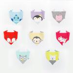 BY 2017春宝宝婴儿口水巾均码可选色 动物世界系列图案三角口水巾