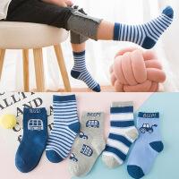 【1件3折】2019春夏新款短筒袜卡通棉质婴儿袜儿童袜子薄5双盒装袜