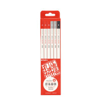 孔庙祈福系列铅笔 晨光30409圆杆铅笔 2B美术绘画原木铅笔 12支装