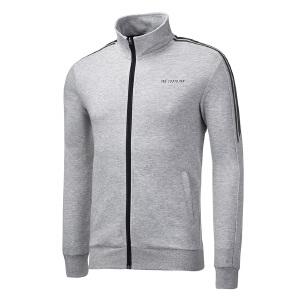 361度立领男装外套2018秋冬季新款长袖跑步运动开襟卫衣