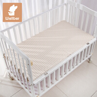 威尔贝鲁(WELLBER)婴儿床单秋冬宝宝纯棉床单新生儿四季被单床上用品单件