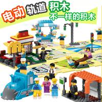 兼容乐高积木女孩别墅公主城堡玩具益智拼插电动轨道车3-6-8-10岁