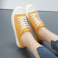 小学生10女童帆布鞋11女孩平底板鞋12中大童13休闲运动鞋15岁白鞋