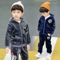 男宝宝冬季女婴儿童装秋冬装女童卫衣两件套装潮