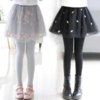 女童两件裙裤大童裤裙儿童打底裤加绒冬季
