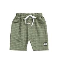 儿童短裤天丝麻沙滩裤3-15岁夏糖果色韩版可开档男女童运动休闲裤