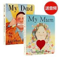 【满300-100】【现货包邮】进口英文原版绘本 My Dad My Mum 纸板书我爸爸我妈妈2册合集Anthony