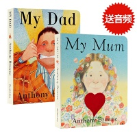 包邮 进口英文原版绘本 My Dad My Mum 纸板书我爸爸我妈妈2册合集Anthony Browne安东尼布朗