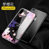 iphone xr手机壳新款超薄透明硅胶苹果xr手机壳女潮牌玻璃网红xr max全包保护套软ipon