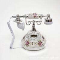 至臻精品座机电话古董仿古电话欧式复古电话创意田园陶瓷电话机502银