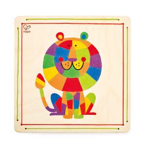 【特惠】HapeDIY沙画丛林之王3-6岁益智创意早教玩具绘画手工DIY玩具E5116
