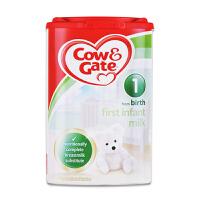 保税区直发 英国Cow&Gate牛栏婴幼儿配方奶粉1段(0-6个月宝宝 900g)
