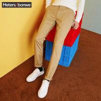 【1件3折到手价:32.7】美特斯邦威裤子男士冬装新款净色长裤简约时尚百搭休闲裤潮R