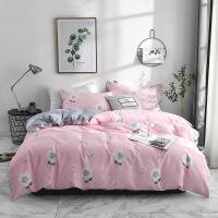 纯棉斜纹四件套全棉床上用品被套 加大四件套 被套220*240cm床单230*2