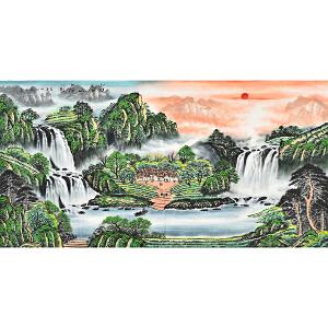 当代著名画家   薛永富春山居图gs01527