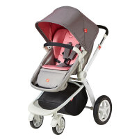gb好孩子GB08-W婴儿推车高景观四轮避震宝宝手推车可躺可坐折叠红色GB08-W-P117RR