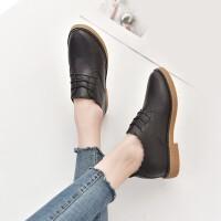 内增高黑色小皮鞋20*东同款冬新款百搭英伦学院风原宿软妹单鞋子女鞋