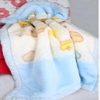 新生婴儿毛毯拉舍尔绒双层加厚幼儿园午睡儿童毯冬季
