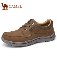 camel 骆驼男鞋 秋冬新款磨砂牛皮轻盈健步鞋系带运动休闲鞋