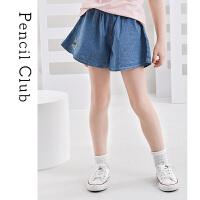 【2件3折价:58.8元】铅笔俱乐部童装女童牛仔短裤薄款儿童裙裤宽松洋气夏季2021