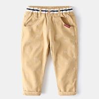 童装男童裤子纯棉宝宝长裤秋冬儿童休闲裤