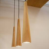 【望远镜吊灯】北欧实木餐厅酒吧装饰创意灯具LED灯泡 本来设计