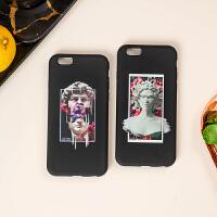 文艺 iPhone XS Max手机壳硅胶x/xs/xr全包苹果6/7/8plus软套情侣 美杜莎(iPhone XR
