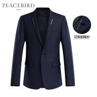 太平鸟男装 新款一粒扣商务休闲西装男士帅气修身羊毛便服单西潮