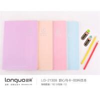 蓝果甜心马卡-B5科目本LG-21308 颜色图案随机 单本销售 当当自营
