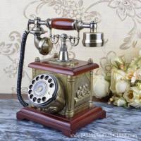 至臻仿古电话机 转盘 欧式老式复古电话 复古客厅座机礼品001S