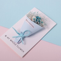 春节新年礼盒diy卡片干花表白生日情人节贺卡立体 创意