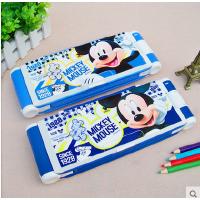 韩国创意文具盒带台灯迪士尼多功能笔盒小学生男女文具铅笔盒