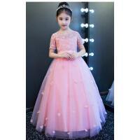 六一儿童礼服公主裙夏季婚纱花童裙女童蓬蓬裙长款晚礼服演出服