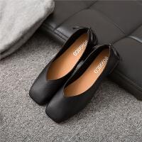 软底防滑单鞋女黑色职业女鞋平跟皮鞋春秋舒适上班工作鞋平底