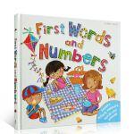 进口英文原版正版 First Words And Numbers 单词和数字启蒙英英字典词典低幼儿英语单词认知学习用书