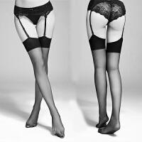 宋夫人内衣复古长筒黑边情趣超透明性感诱惑丝袜子大腿袜 黑色 仅大腿袜1双 均码