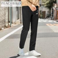 太平鸟男装休闲裤男黑色春季新品弹力裤子韩版修身长裤青年商务裤