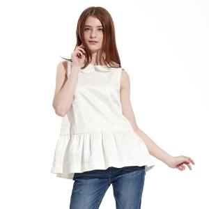美特斯邦威女装公主花朵短袖衬衫221986
