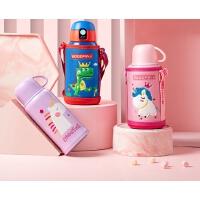 儿童保温杯带吸管两用幼儿园女小学生便携水壶宝宝水杯