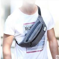 户外旅行骑行便携三角包韩版单肩斜挎包男士腰包多功能包运动胸包