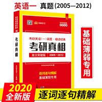 2020考研英语一真题细读经典考研真相高分突破版(2005-2012)考研真题逐句精解附答案解析赠答题卡