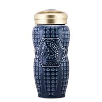 乾唐轩活瓷杯 正品 皇家马首随身杯 双层保温杯 隔热防烫茶水杯子