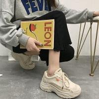 老爹鞋女2019夏季新款ins百搭运动鞋超火智熏鞋网红小白鞋子潮秋 35 女款