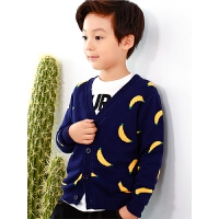童装男童针织衫秋季新款儿童纯棉开衫外套