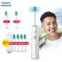 【下单赠大礼包】飞利浦电动牙刷HX3216/13 充电式成人超声波牙刷儿童自动震动牙刷 HX3120升级版正品