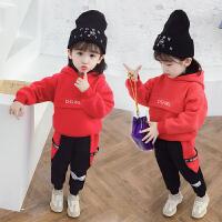 女宝宝冬装小童套装女童秋冬季洋气儿童两件套潮