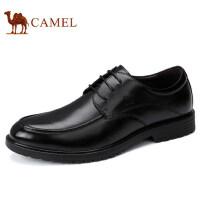 camel 骆驼男鞋 秋冬新品商务正装真皮系带牛皮低帮男士皮鞋子