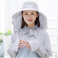 骑车防晒帽子女可折叠大沿太阳帽防紫外线防风披肩遮阳帽护脸可礼品卡支付