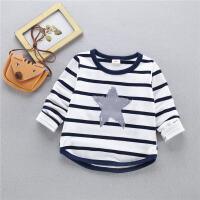 童装儿童长袖T恤纯棉男童小童卫衣女童打底衫宝宝婴儿上衣秋装