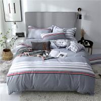 床上四件套棉1.8x2.0床单被套180x200cm/2.0x2.3m 中号四件套(被套180*200) 配枕头两个